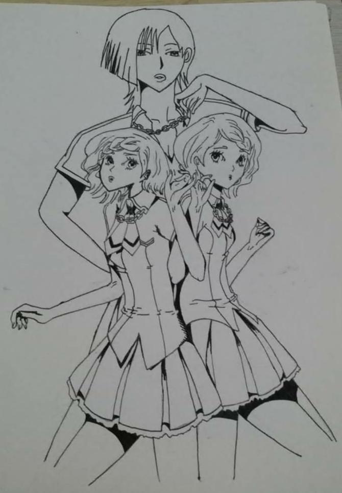 Drawn paper anime #14