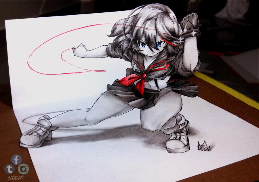 Drawn 3d art epic Nagi on Drawing Ryuko Iza