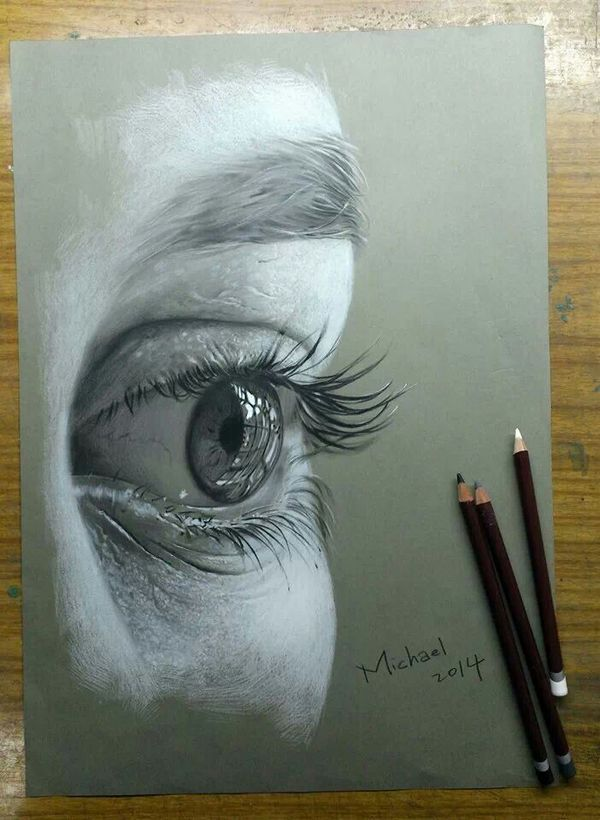 Drawn paper artwork Best an drawing charcoal close