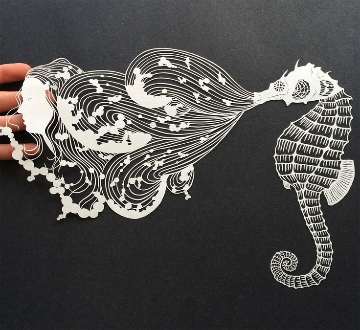 Drawn paper artwork Art 832 and Art on