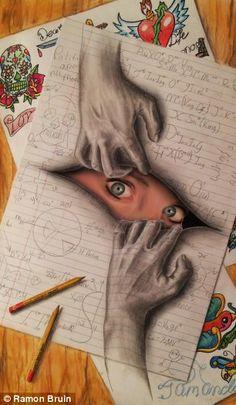 Drawn paper awesome Draw 10352321_10152523713708499_4932246745543917841_n 3D look that