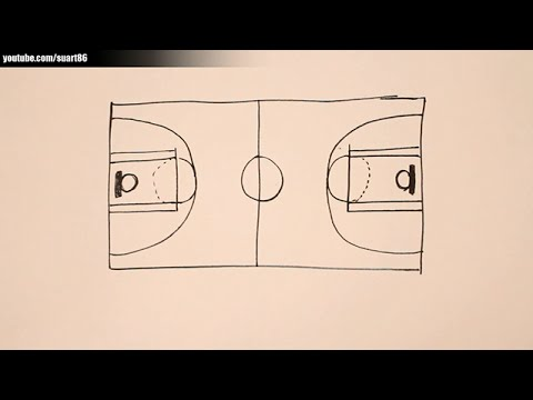 Drawn paper basketball How a court to to
