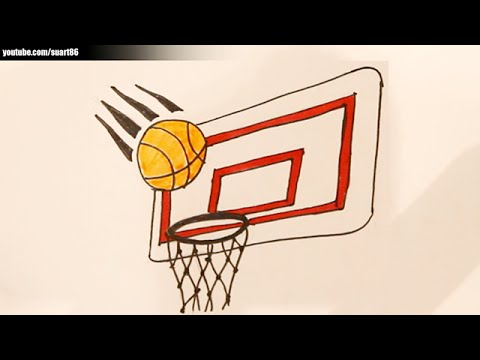 Drawn paper basketball How a hoop to to