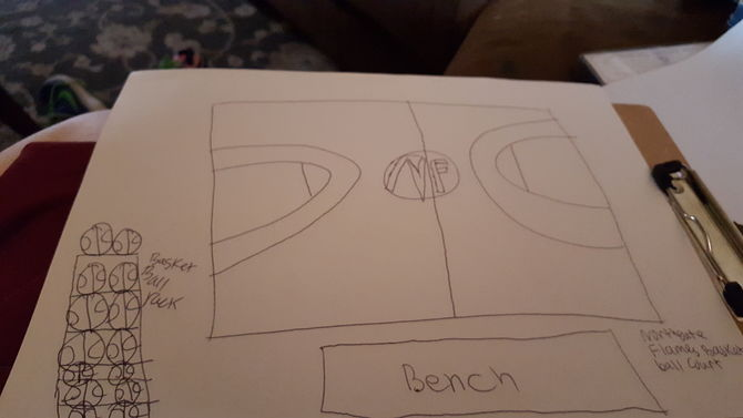 Drawn paper basketball Draw Pictures) ago Steps 1