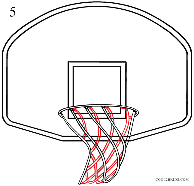 Drawn paper basketball Basketball Pictures) Basketball to Step