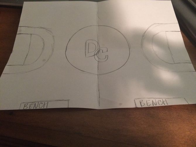 Drawn paper basketball Draw Pictures) ago Steps 2
