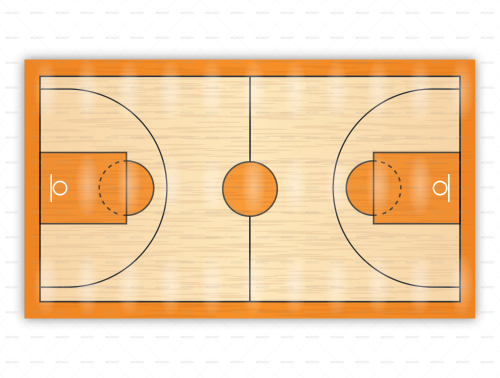 Drawn paper basketball Plays drills drawing for