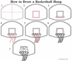 Drawn paper basketball Step How of a How