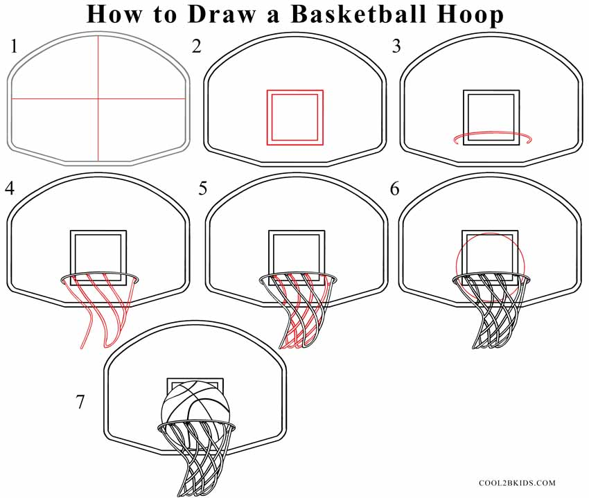 Drawn paper basketball Step Step Basketball a Pictures)