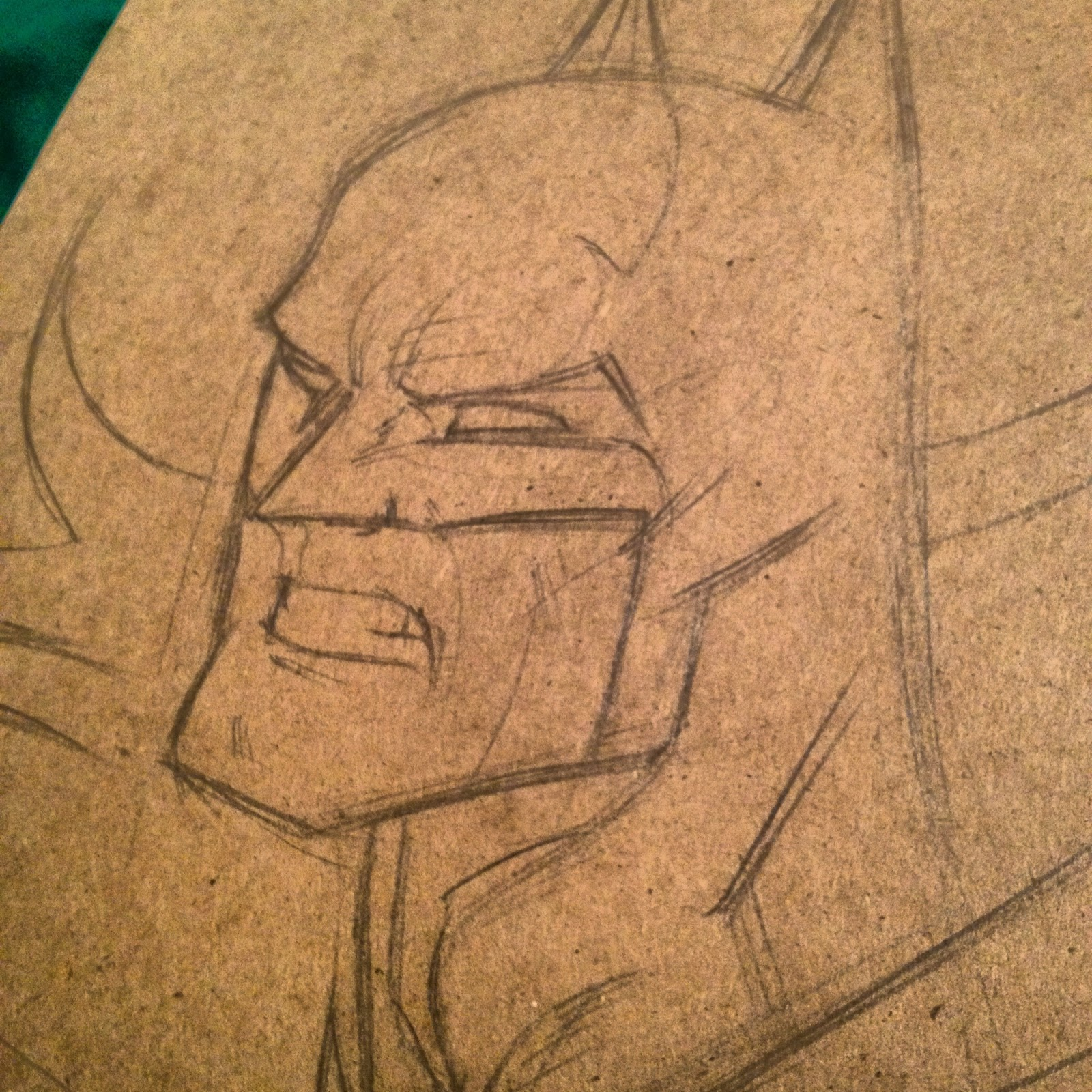 Drawn paper batman Batman sketch The Step is
