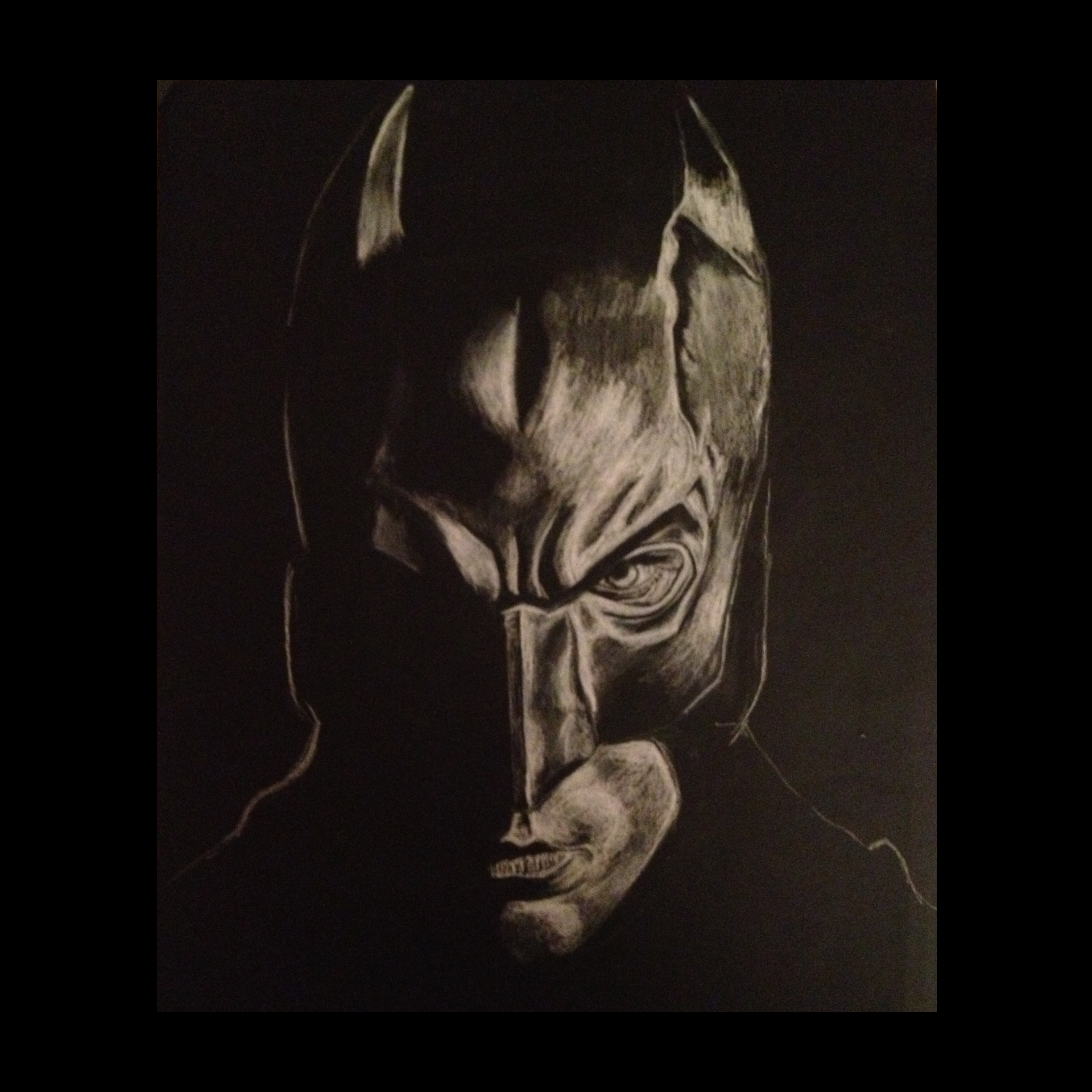 Drawn paper batman By White paper #batman #drawing