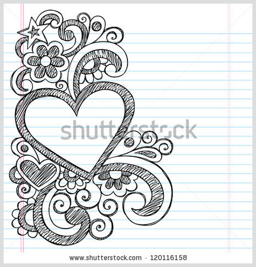 Drawn heart Border Designs Designs Gallery Border