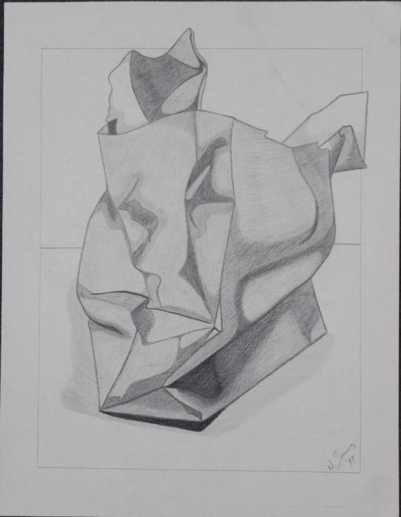 Drawn paper crumpled 1 Original N N Paper