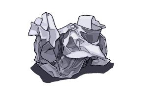 Drawn paper crumpled To Crumpled Paper How How