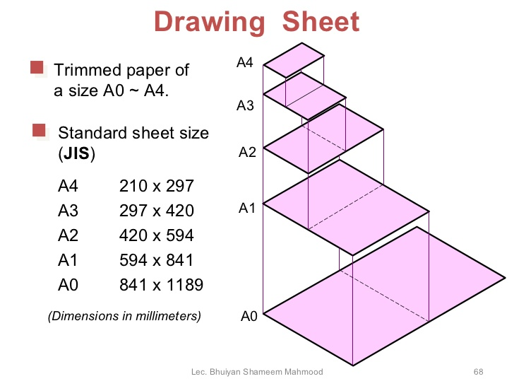Drawn paper dimensional Trimmed Drawing Sheet Engineering paper