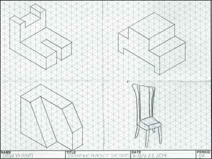 Drawn paper dimensional Squares Devina that paper Isometric