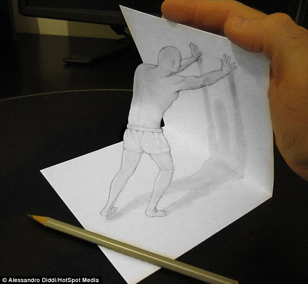 Drawn paper dimensional His by mind are Diddi