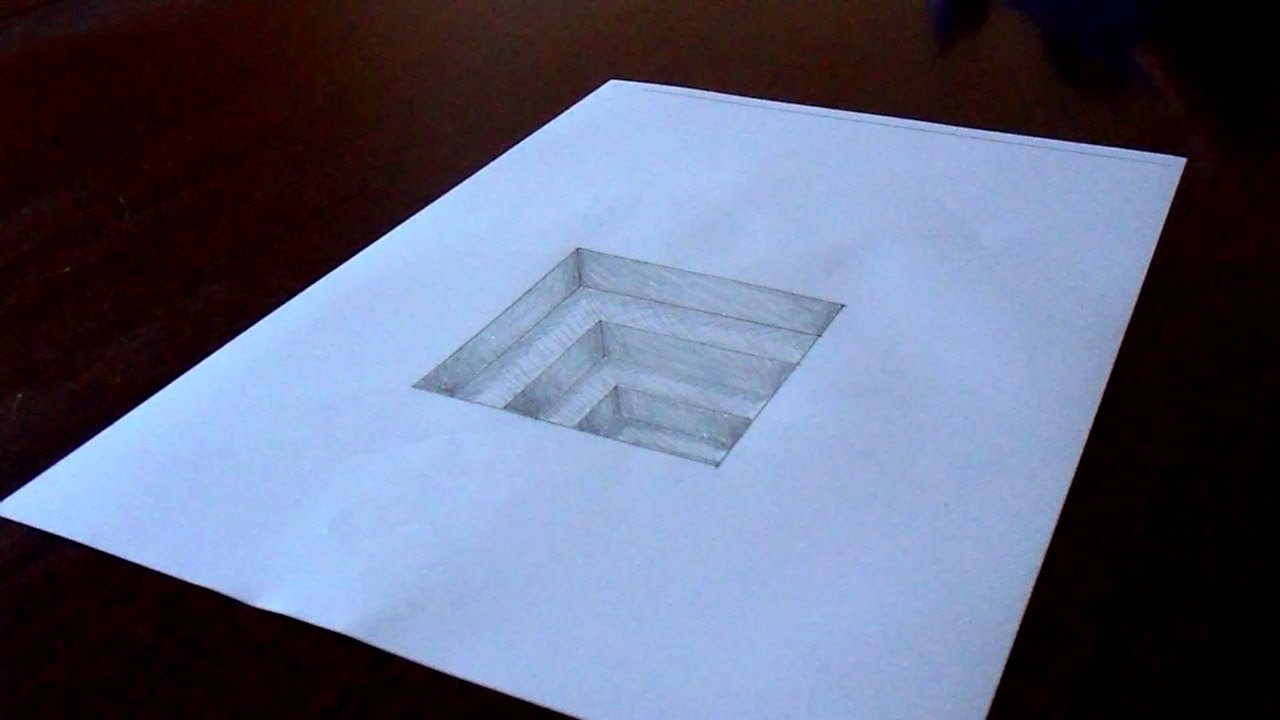 Drawn paper dimensional Paper (Tutorial Drawing Amazing Hole