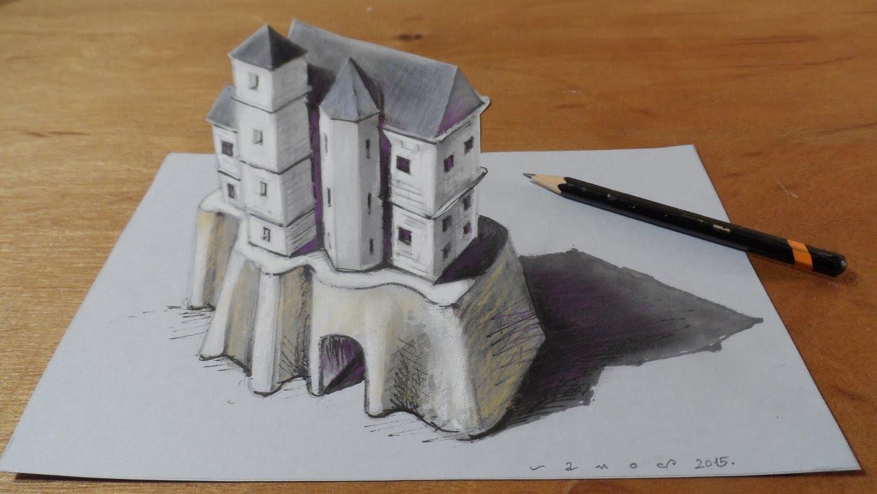 Drawn illusion space drawing #4