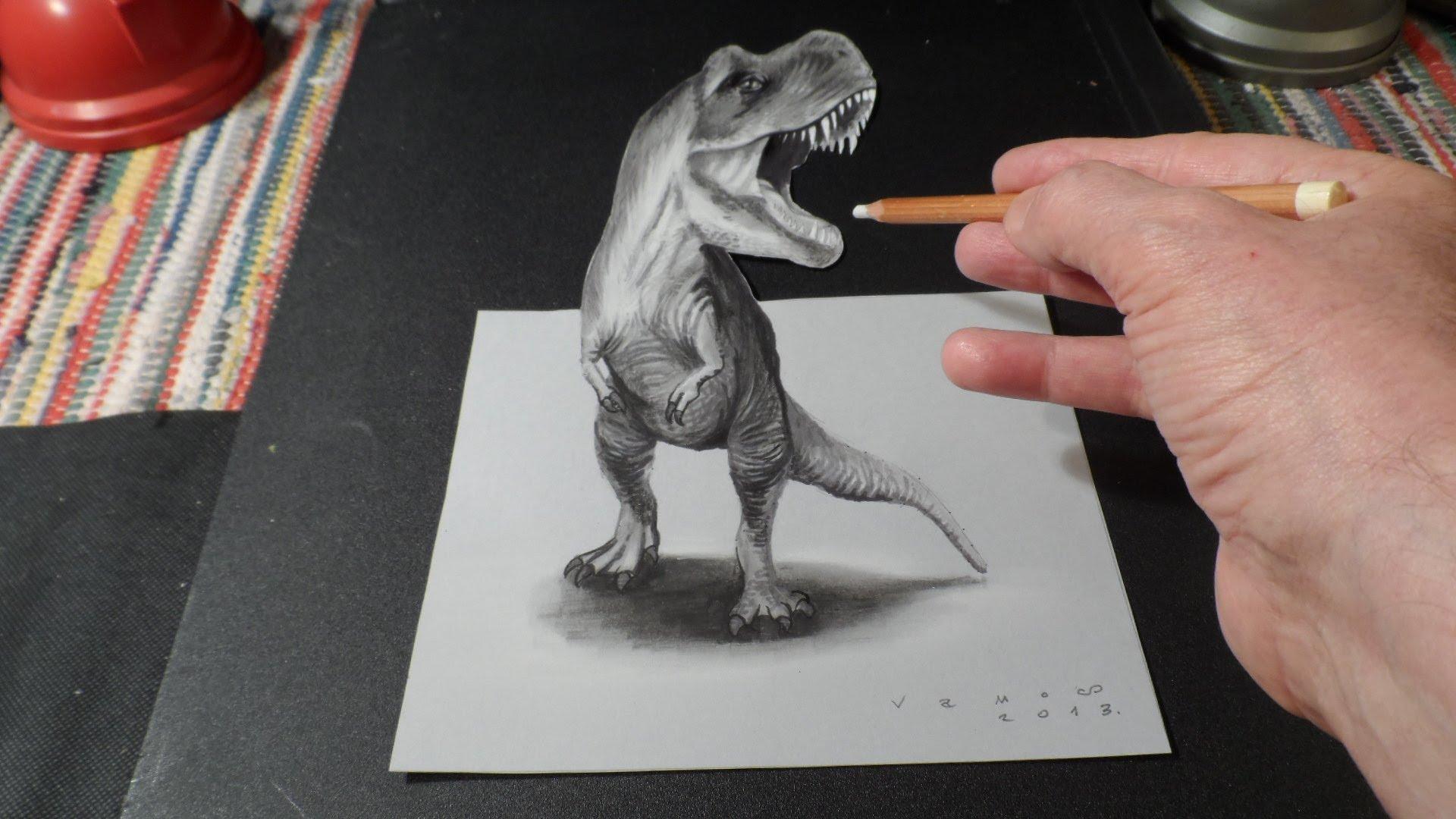 Drawn shark vamos YouTube  How Draw Rex