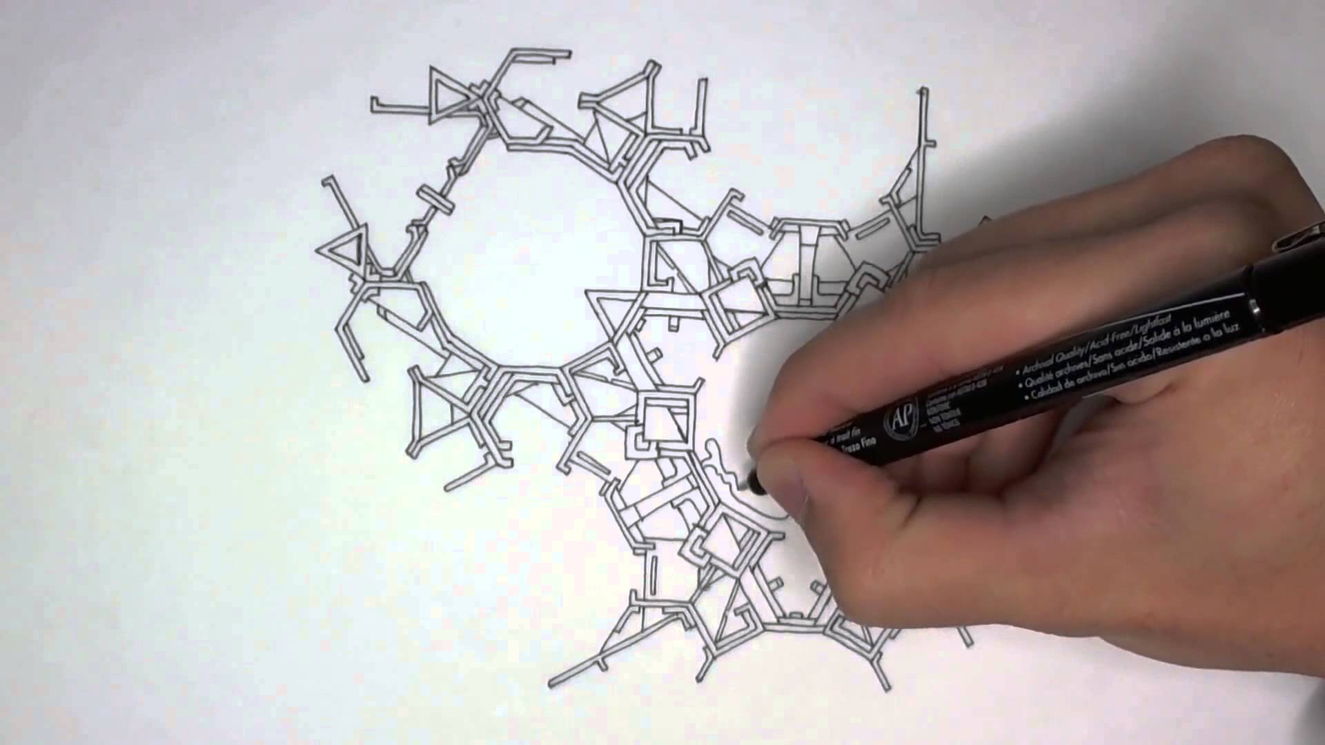 Drawn paper doodle Drawing Tessellated with Paper YouTube