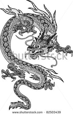 Drawn paper dragon Out Psychedelic and new chinese