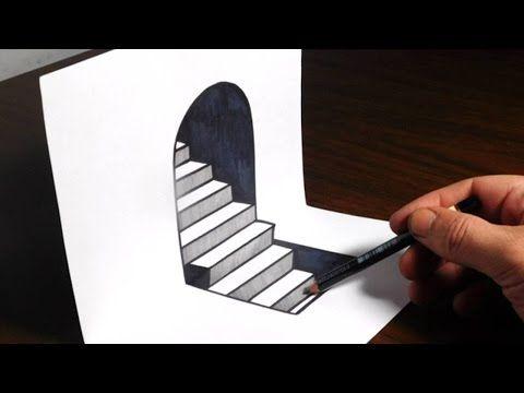 Drawn 3d art beginner 3D Hole truco agujero 3d
