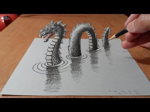 Drawn paper drawing 3d Paper YouTube on 3D Trick