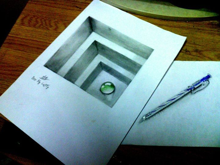 Drawn paper drawing 3d 25+ ideas on  drawings