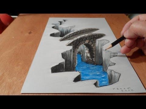 Drawn 3d art hole #2