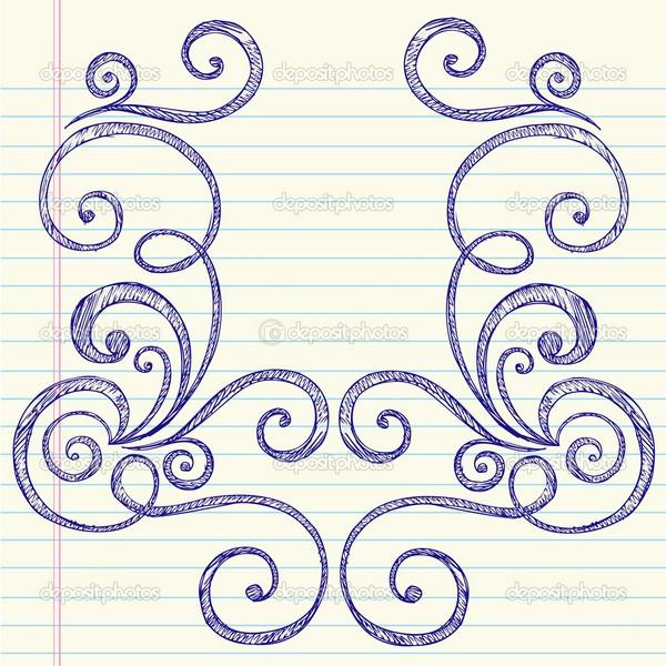 Drawn paper Back Draw Designs Hand