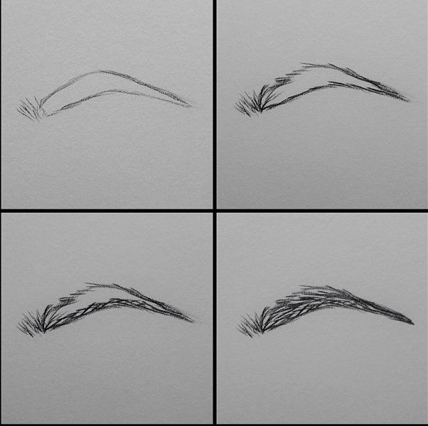 Drawn paper eyebrow Makes sense you so much