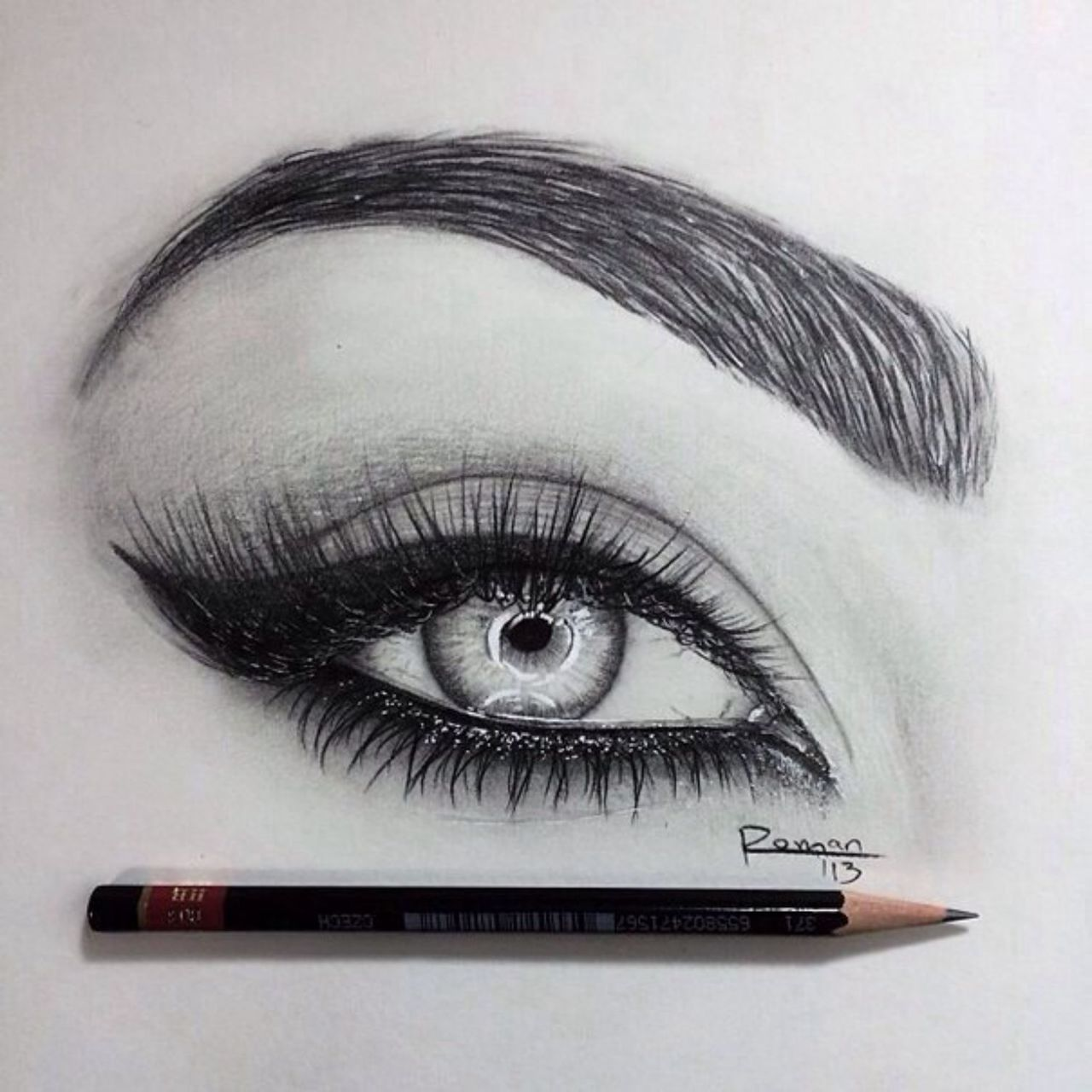 Drawn paper eyebrow On by about We fashion