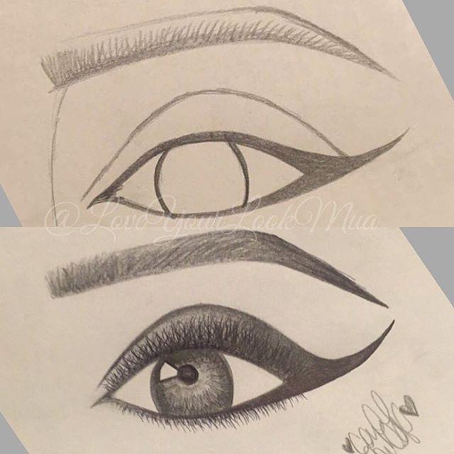 Drawn paper eyebrow On drawing get Instagram eye