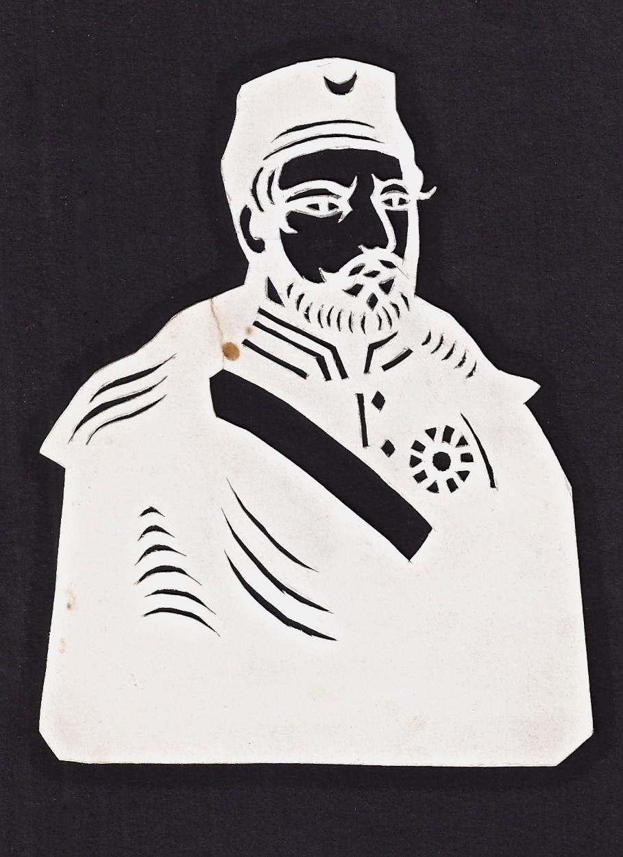 Drawn paper flat Flat Cutout/Stencil Vintage Vintage with