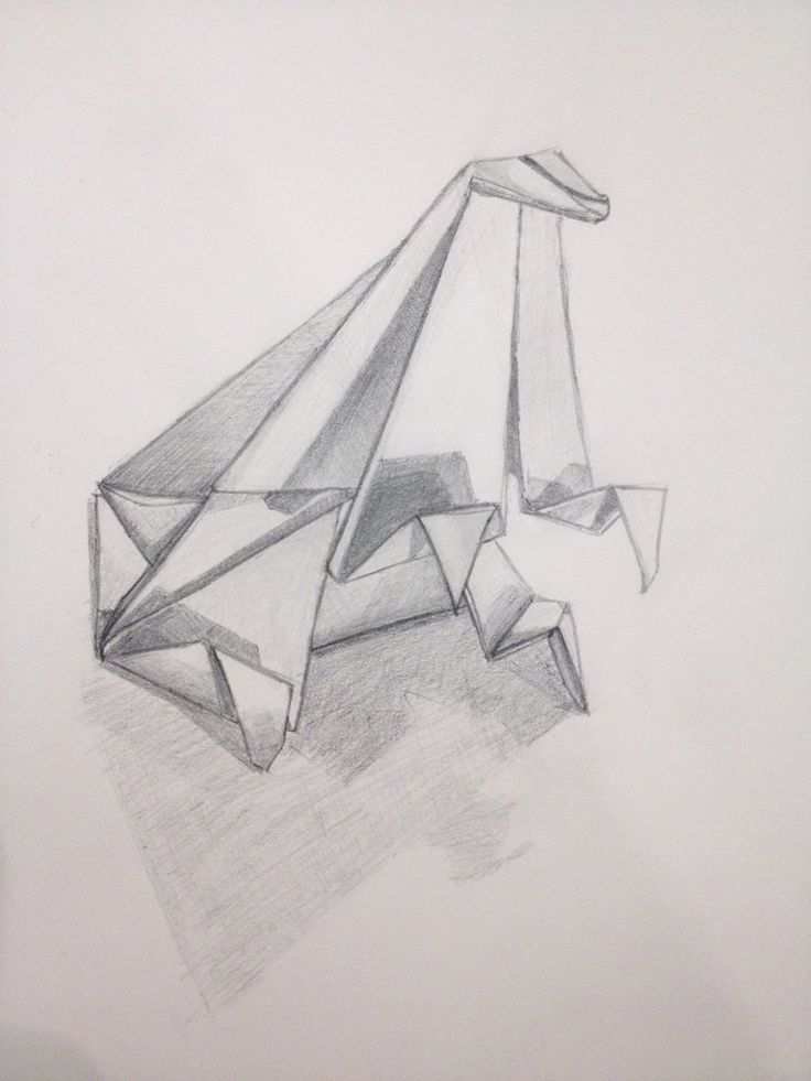 Drawn paper folded paper Origami 7 drawing Year images