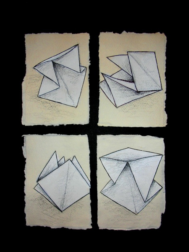 Drawn paper folded paper Drawings Folded on #drawing drawing