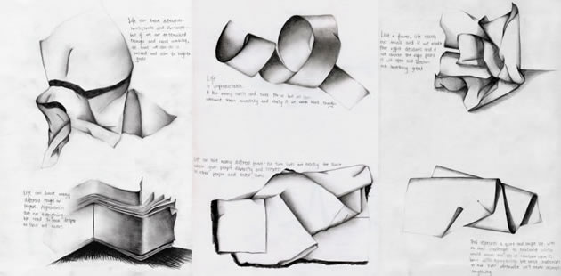 Drawn paper folded paper Great lessons ideas Art paper