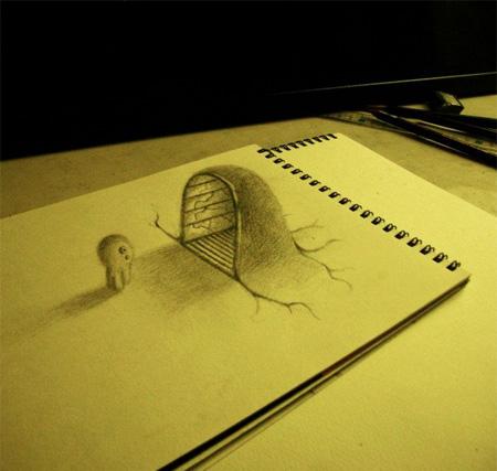 3d 3D 3d+drawings+on+paper Artwork