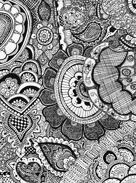 Drawn paper henna design On Henna designs Pinterest Henna