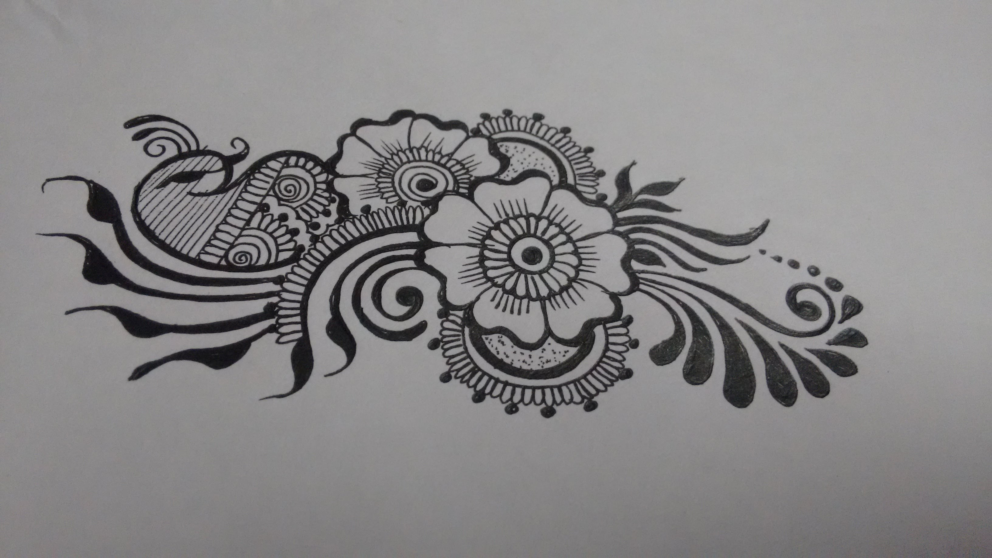 Drawn paper henna design Henna Mehndi to Matroj designs