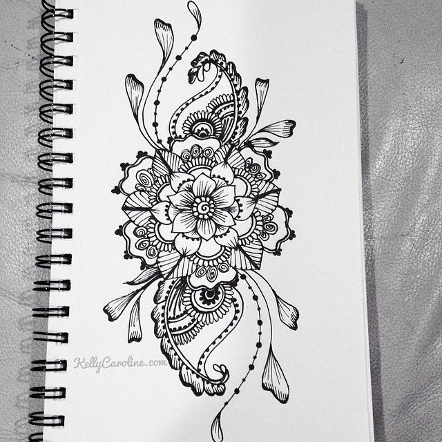 Drawn paper henna design Paisleys a henna as ideas