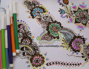 Drawn paper henna design Designs DIY  Lantern Henna