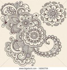 Drawn paper henna design Arabic The designs Beginners henna