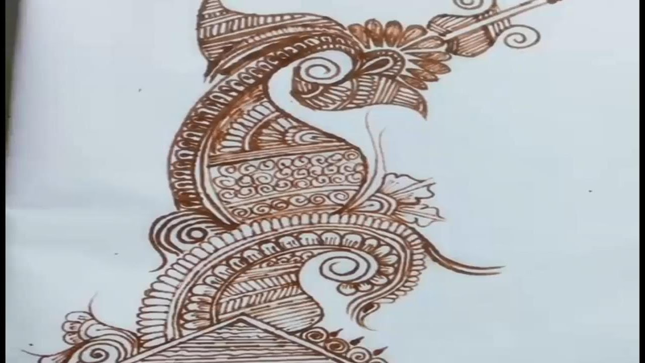 Drawn paper henna design To paper Henna on how