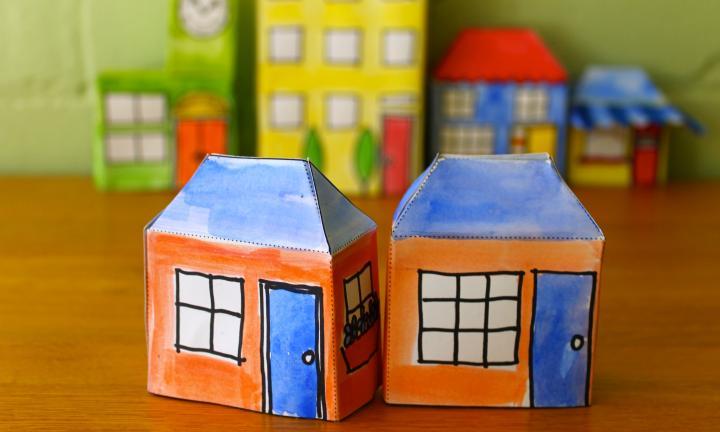 Drawn paper house  house Make (small) Kidspot