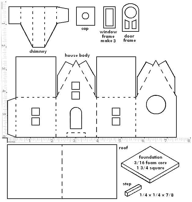 Drawn paper house Little Paper sort print paper