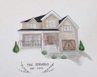 Drawn paper house Custom Custom Paper House Hand