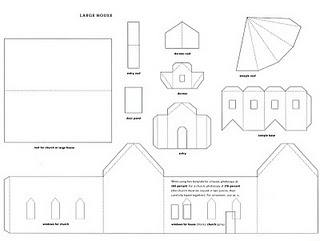 Drawn paper house Many 20+ templates Paper ideas