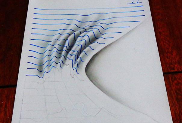 Drawn paper looks 3d #7